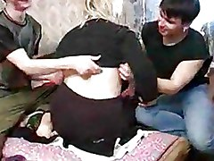 Homemade Moms and Boys Threesome