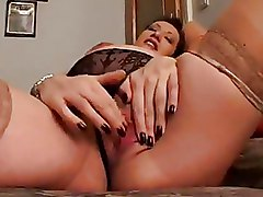 Pregnant Stockings pussy solo