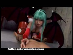 Jav Japanese Blowjob Cosplay Costume Darkstalkers MorriganBJ HJ Asian Celebrity