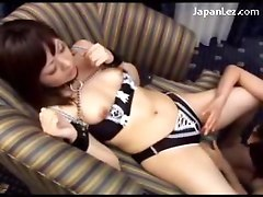 Blindfolded Young Girl With Collar And Handcuff Getting Her Nipples Sucked Pinch By Her Gf On The Sofa