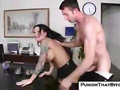 punish bitch mason-moore rough office sex hardcore work stockings brunette big-tits huge-tits cfnm angry fight doggystyle desk boss secretary nylons anal