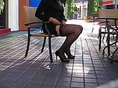 Flashing MILFs Stockings