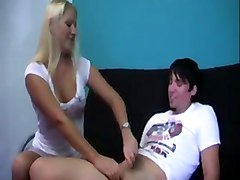 blonde handjob jerking jerky teen boobs young quic