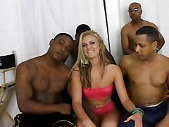 Group Gangbang Blonde Blonde Blowjob Caucasian Cum Shot Gangbang Masturbation Oral Sex Piercings Shaved Tattoos Vaginal Masturbation Vaginal Sex