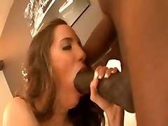 interracial brunette big tits blowjob big dick hardcore amateur homemade