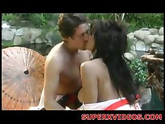 Oriental slut having good time for sex outdoor oral sex blowjob hardcore eating hot pussy fingering fisting orgasm hot couple