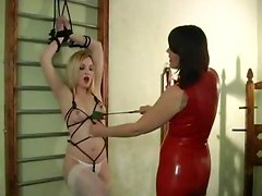 fetish femdom bondage bdsm submission domination latex stockings lesbians babes punishment
