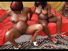 Ebony Foursome Pregnant black groupsex orgy