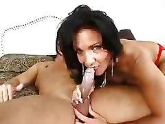 Granny Stockings blowjob hot brunette