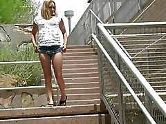 Babes Outdoor Public nudity amateur teens blonde boobs