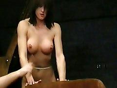 BDSM Bondage Brutal bdsm busty torture carpet beating dungeon extreme tit torture