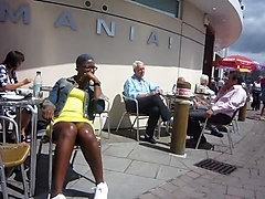 Black and Ebony Upskirts Voyeur