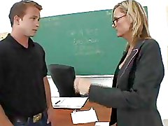 Classroom Hardcore Teachers blonde glasses mature