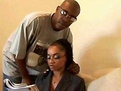 anal cumshot black blowjob glasses pussylicking ebony blackwoman bigass pussyfucking cumonass