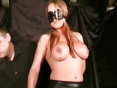 BDSM Bondage boobie slapping dominance leather pain tit slapping