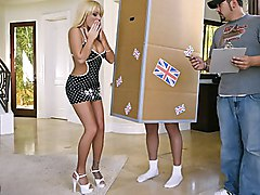 blonde  big tits  heels  milf  big cock  sofa Brooke Belle  Keiran Lee