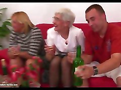 FFM Granny Group Sex stockings