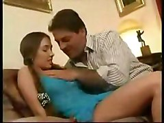 Meri gets anal from daddys friend