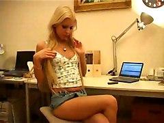 Masturbation Blonde Blonde Caucasian Masturbation Pornstar Shaved Solo Girl Toys Vaginal Masturbation Boroka Bolls