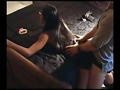 fucking ebony clothed while smoking skirt behind