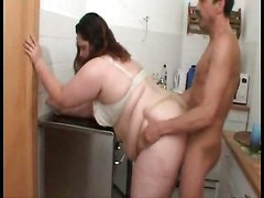 bbw fat blowjob fucking kitchen dick wife handjob