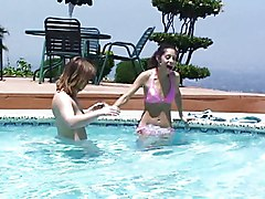 Lesbian Caucasian Lesbian Licking Vagina Masturbation Oral Sex Outdoor Pool Position 69 Shaved Tattoos Vaginal Masturbation