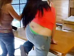 Femdom Old+Young Spanking