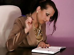 Milf Office Satin