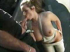 milf big tits public blowjob outdoor brunette car teasing cumshot