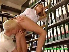 cumshot hardcore blonde blowjob smalltits pussyfucking office
