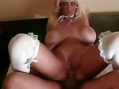 Bedroom Mature blonde riding