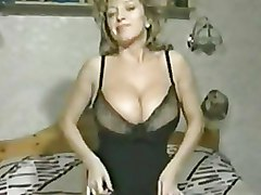 Amateur Bedroom Stockings big tits blonde solo