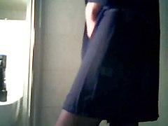 Very Wet Cumshot In Pantyhose Under The Shower