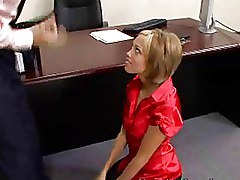 Office Secretaries blonde blowjobs