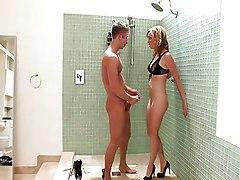 Anal Group MILF Blonde Double Penetration Anal Sex Bathroom Blonde Blowjob Caucasian Cum Shot Deepthroat Double Penetration MILF Oral Sex Pornstar Threesome Vaginal Sex Adrianna Nicole