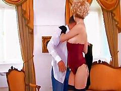 Blonde Lingerie Blonde Blowjob Caucasian Couple Cum Shot Glamour High Heels Lingerie Oral Sex Stockings Vaginal Sex Tarra White Toni Ribas