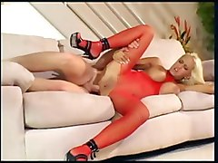 bodystocking crotchless fucking lingerie fishnet heels busty anal shaved stockings