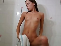 Shower Small Tits Teen masturbate teasing