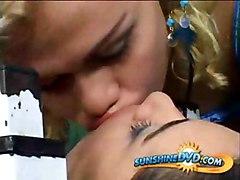Blonde Shemale Fucking Brazilian Girl