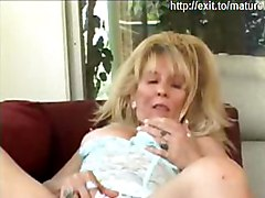 mature granny milf blonde milf highheels heels lingery string fingering ass fingering toying toy orgasm cumming masturbation masturbating
