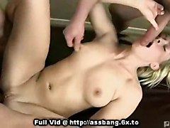 anal blonde creampie blowjob tattoo shaved threesome