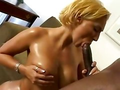 interracial ebony blonde dick blowjob fucking