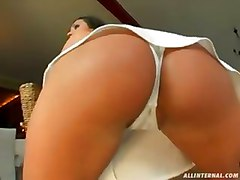 big tits eliza hot brunette with anal hard fuck