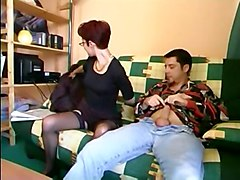 anal stockings cumshot facial blowjob mature glasses asstomouth pussyfucking