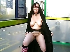 Outdoor Pissing brunette curvy flashing pee public nudity rude uk flashing