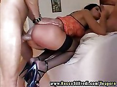 Anal Doggy Style Gang Bang Stockings