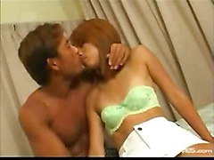 cumshot facial blowjob condom doggystyle titlicking asian ontop hairypussy pussyfucking kissing bedroom