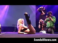 amateur audience stripper sex show stage crowd par