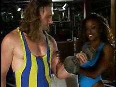 Ebony Slut Shagging Her Trainer