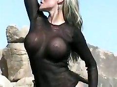 sexy model tits beach